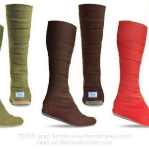 TOM Brown Wrap Boots/Booties Size 8